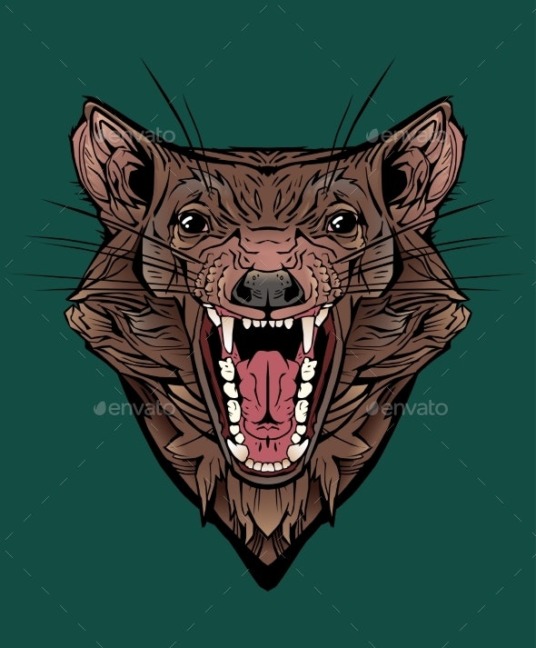 Image of an Angry Tasmanian Devil - Animals Characters