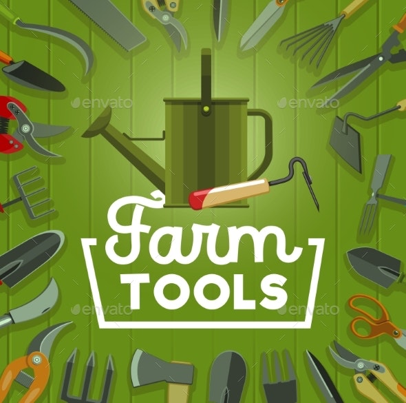 Farm Tools and Gardening Equipment - Miscellaneous Conceptual