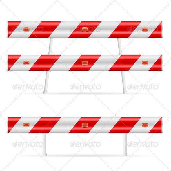 Construction barricade - Objects Vectors