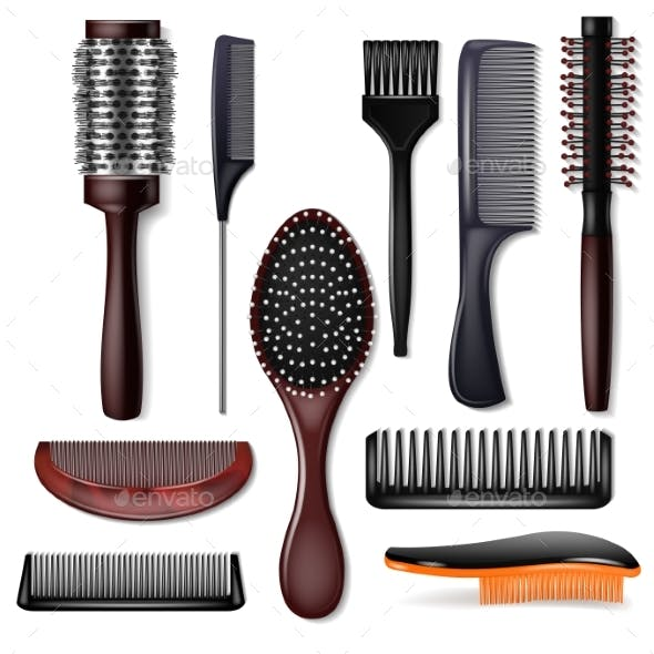 Hair Brush Vectors