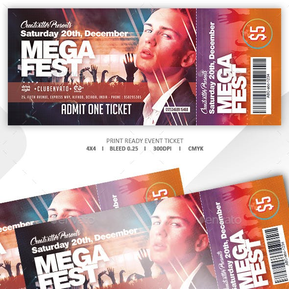 Print Ready Event Ticket