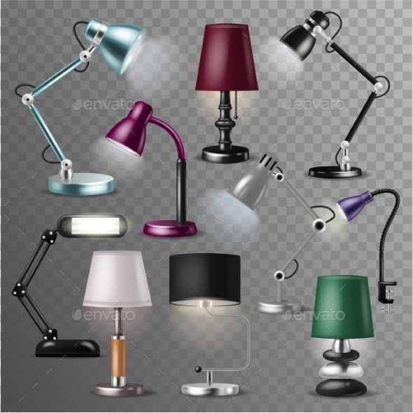 Table Lamp Vector - Man-made Objects Objects