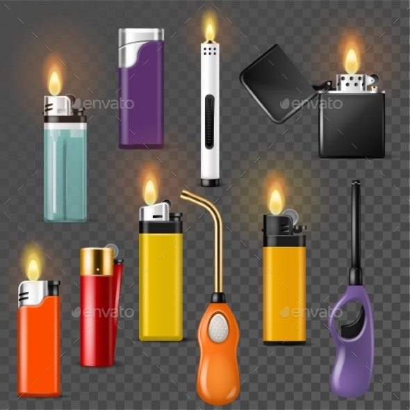 Lighter Vectors - Man-made Objects Objects