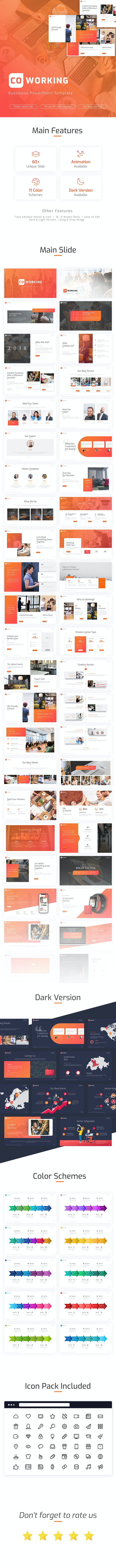 Coworking - Professional Powerpoint Template - Business PowerPoint Templates
