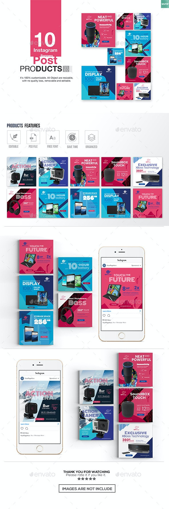 10 Instagram Post Banner-Products Vol02 - Miscellaneous Social Media