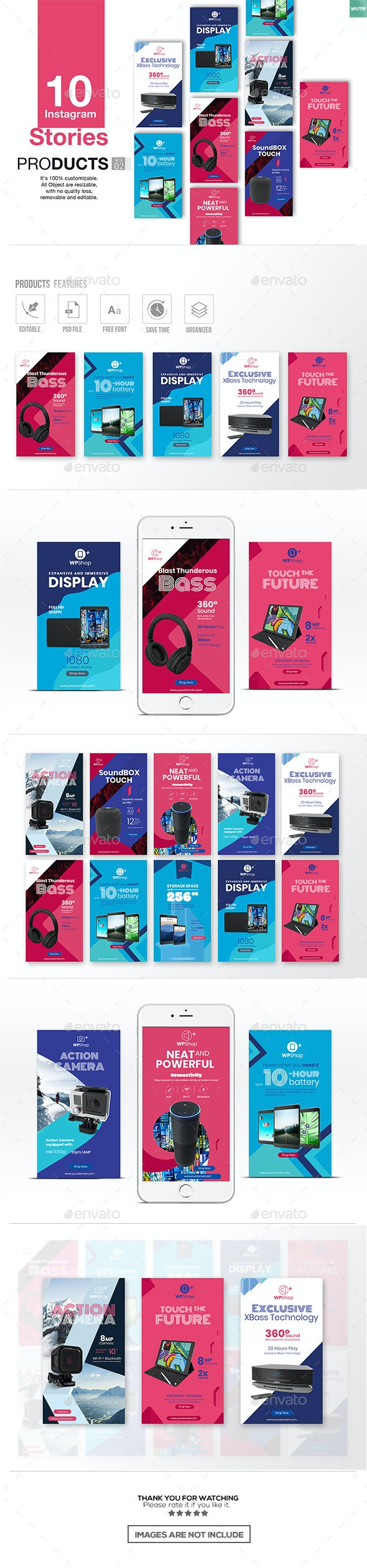 10 Instagram Stories-Products Vol02 - Miscellaneous Social Media