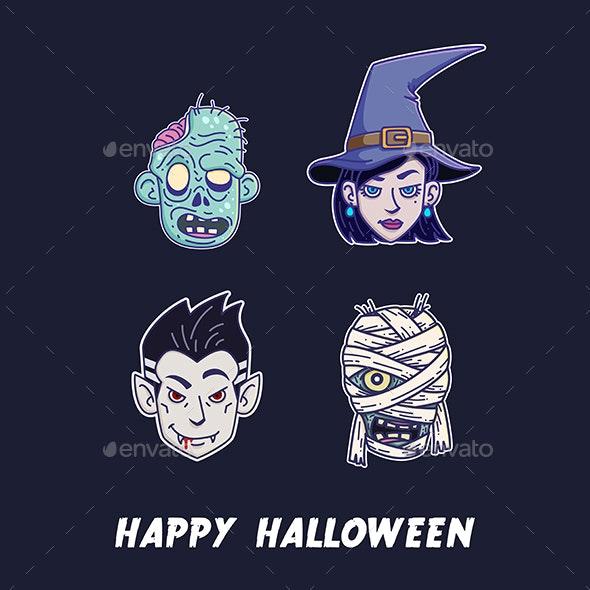 Halloween Monster Set - Halloween Seasons/Holidays