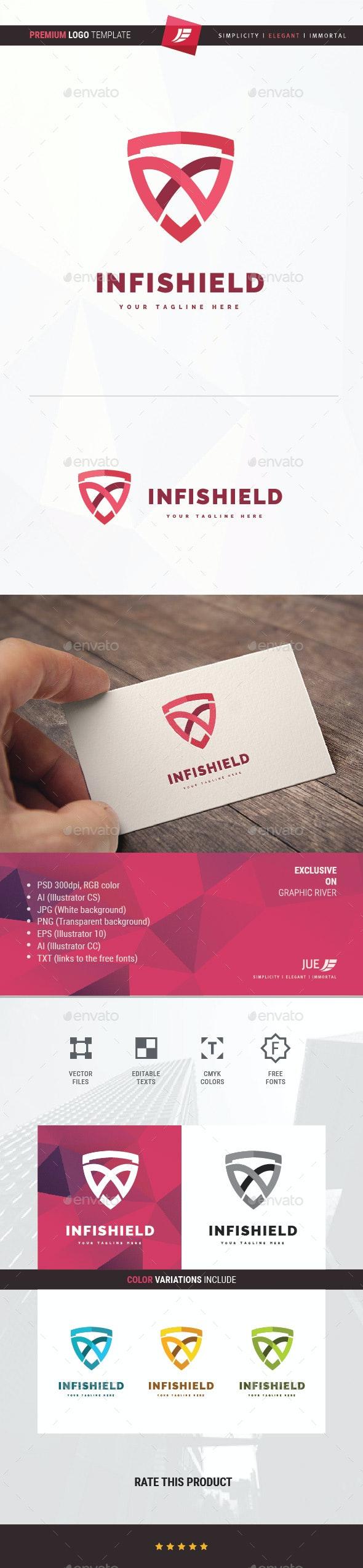 Infinity Shield Logo - Symbols Logo Templates