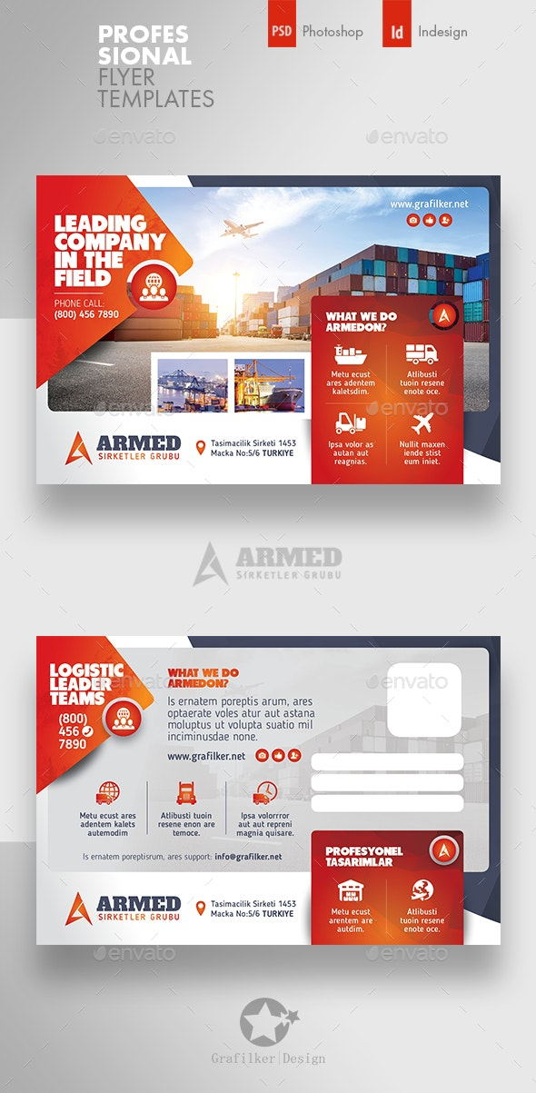 International Postcard Templates - Cards & Invites Print Templates