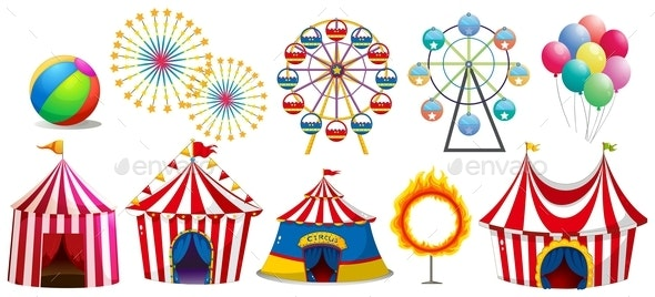 Circus Tents and Ferris Wheels - Buildings Objects