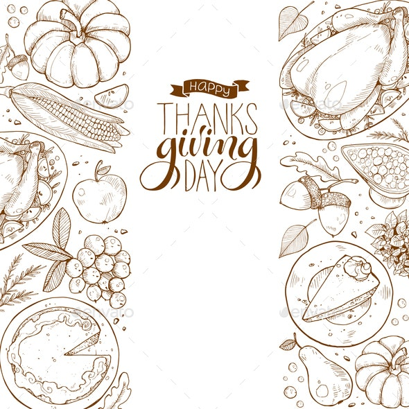 Happy Thanksgiving Poster - Miscellaneous Seasons/Holidays