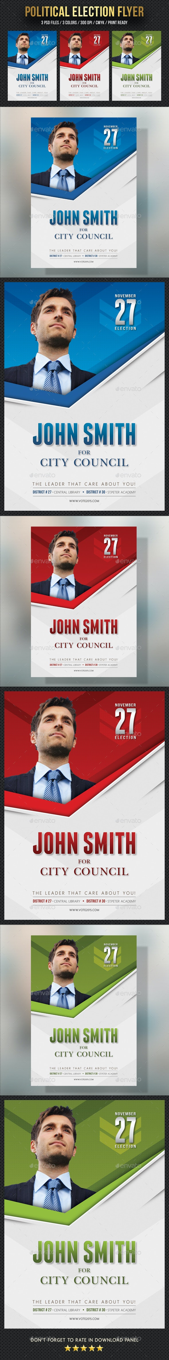 Political Election Flyer Template V2 - Events Flyers