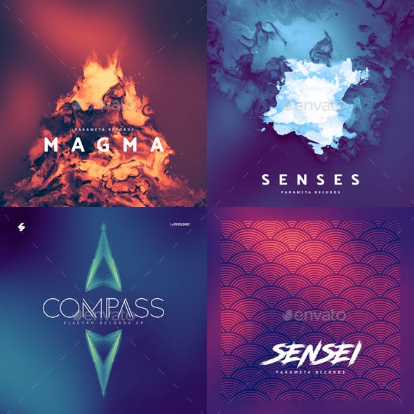 Abstract Album Cover Artwork Templates Bundle 2