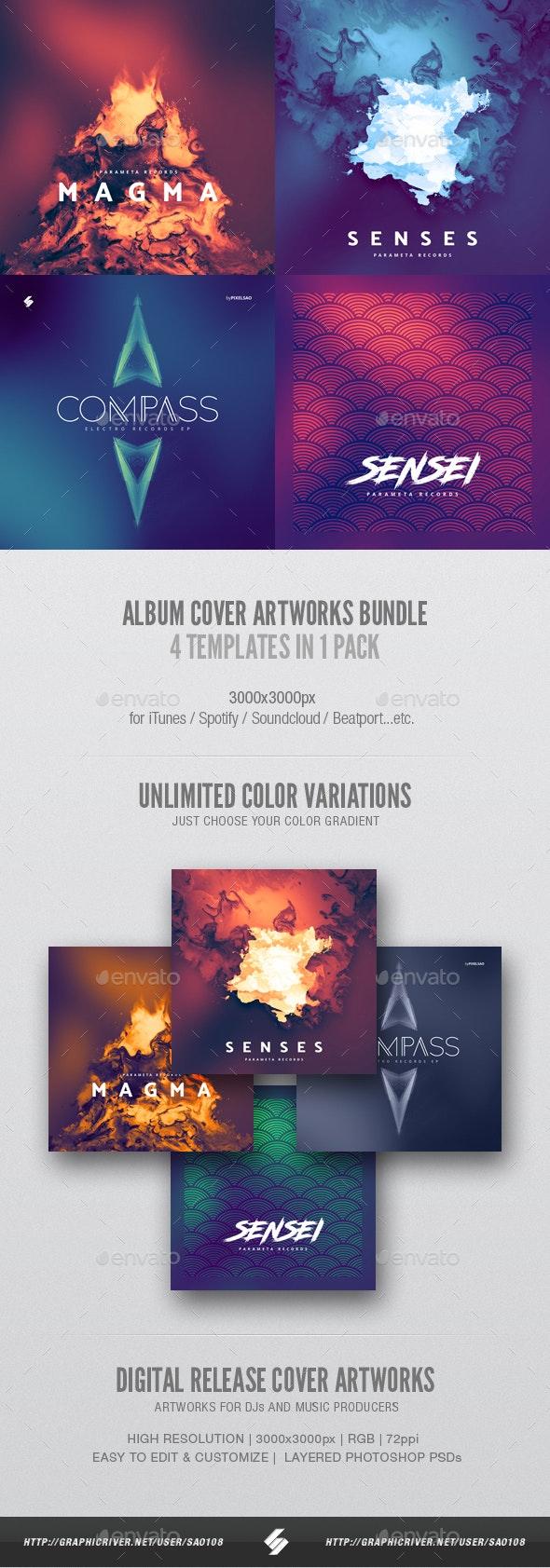 Abstract Album Cover Artwork Templates Bundle 2 - Miscellaneous Social Media