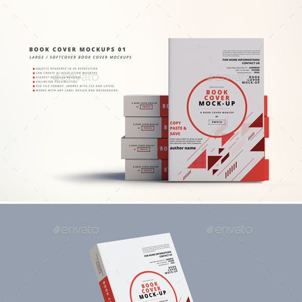 Softcover Book Mockups - Large
