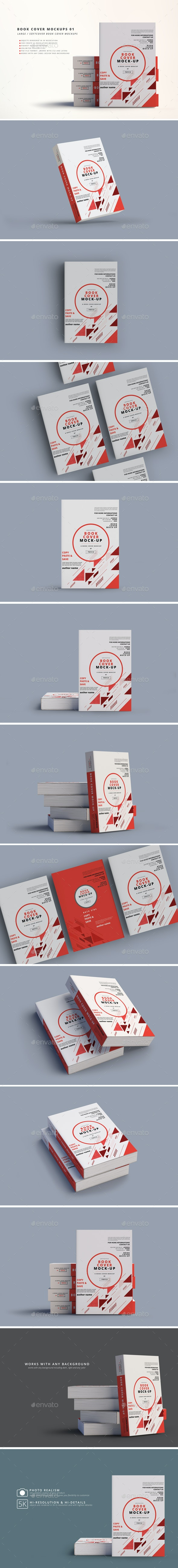 Softcover Book Mockups - Large - Books Print
