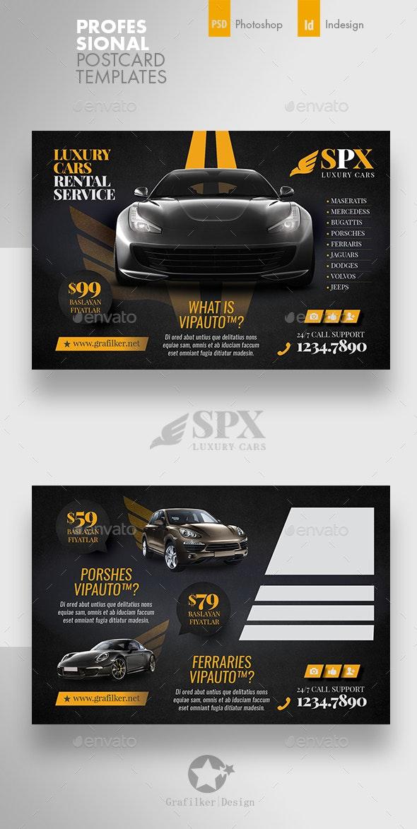 Rent A Car Postcard Templates - Cards & Invites Print Templates