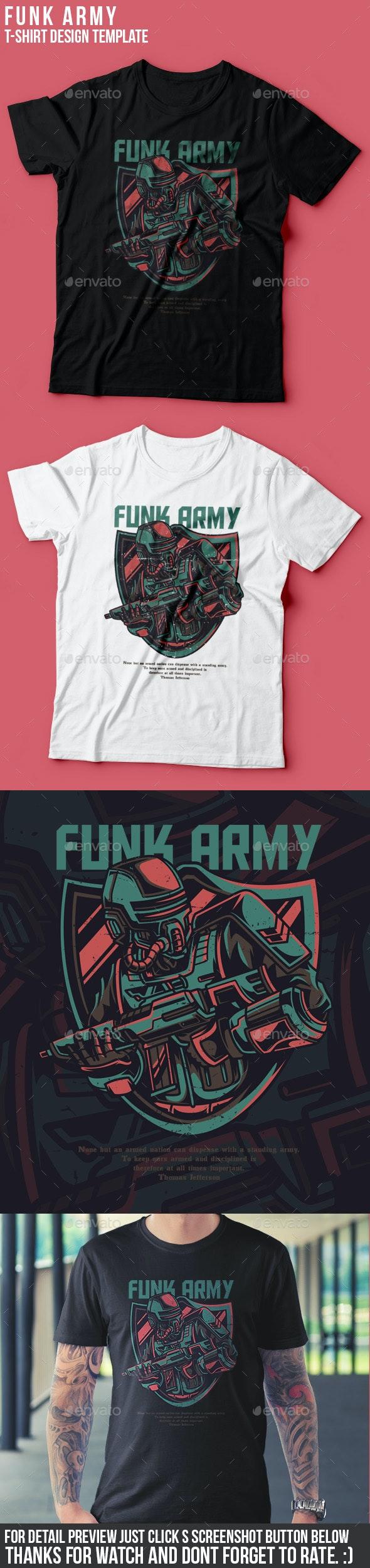 Funk Army T-Shirt Design - Grunge Designs