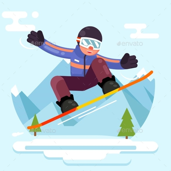 Snowboard  Character - Sports/Activity Conceptual