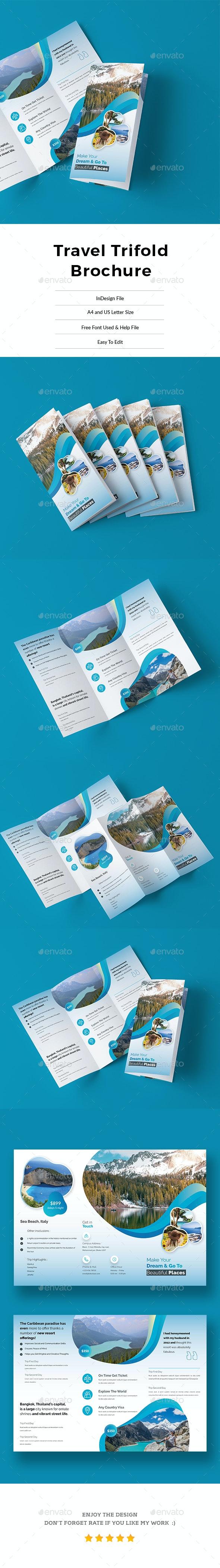 Travel TriFold Brochure - Informational Brochures