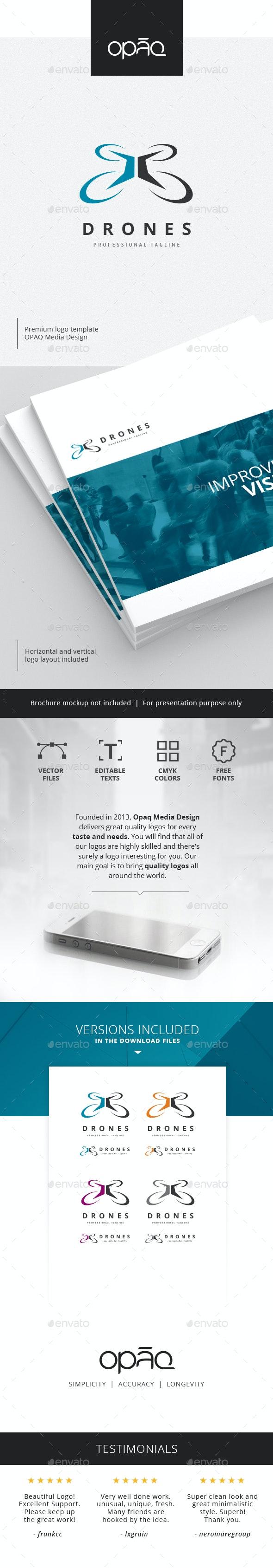 Drone Expert Logo - Objects Logo Templates