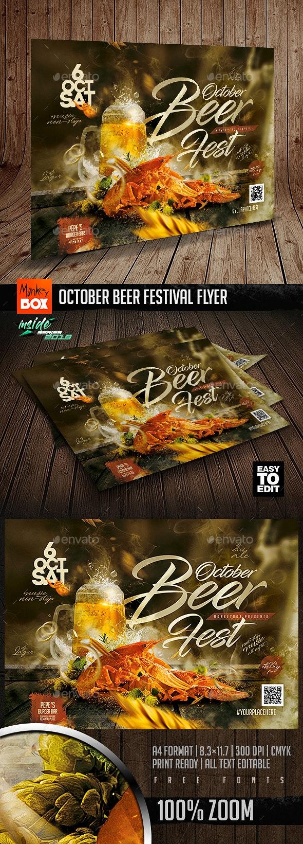 October Beer Festival Flyer - Restaurant Flyers