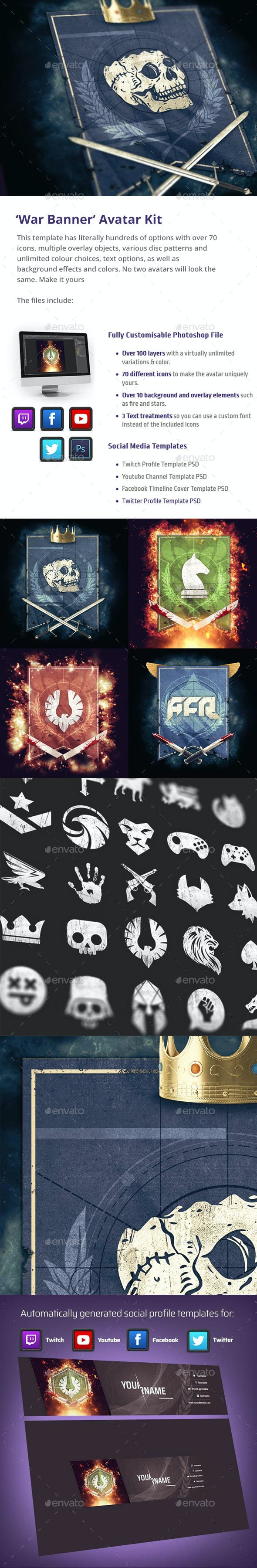 'War Banner' Avatar Kit - Miscellaneous Illustrations