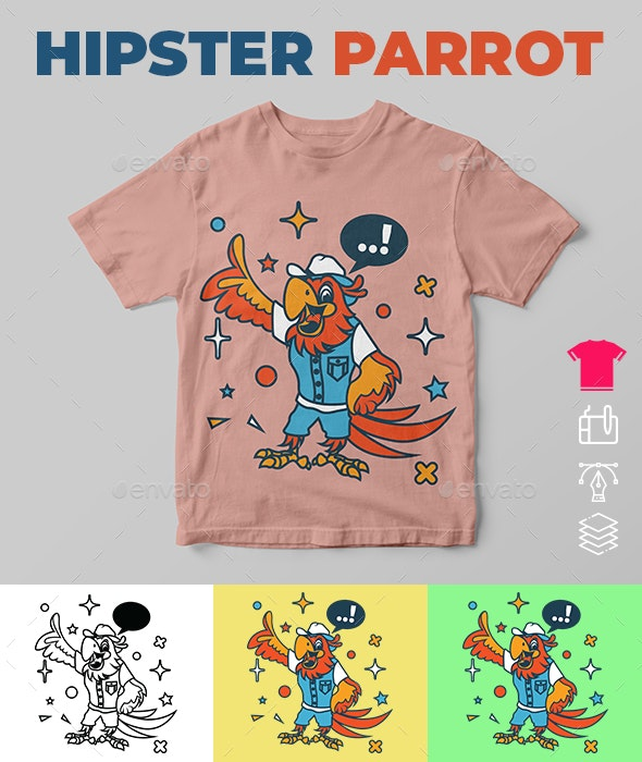 Hipster Parrot