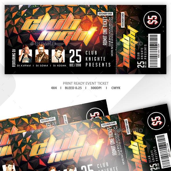 Concert & Event Tickets Template