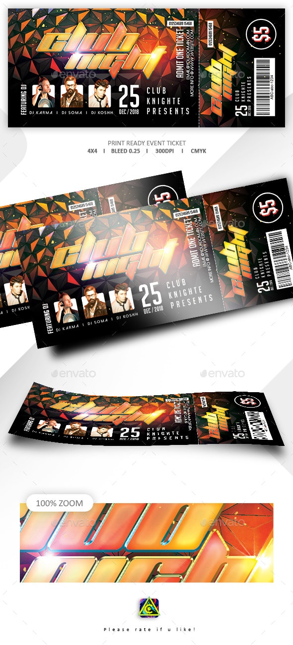 Concert & Event Tickets Template - Events Flyers