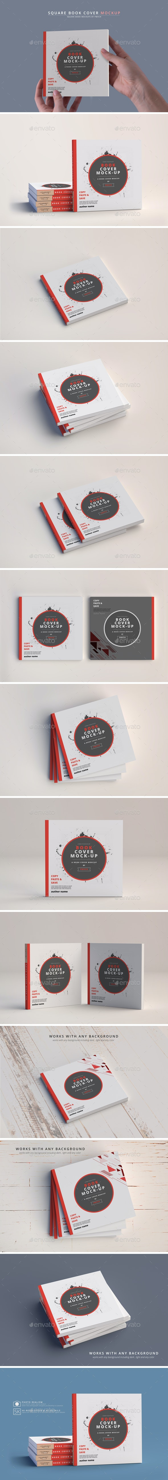 Softcover Book Mockups - Square - Books Print