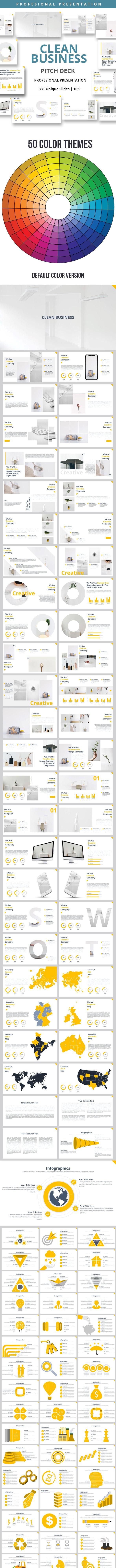 Clean Business Powerpoint Presentation Template - Business PowerPoint Templates