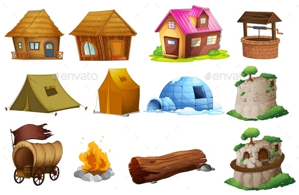 Different Types of Accommodations - Man-made Objects Objects