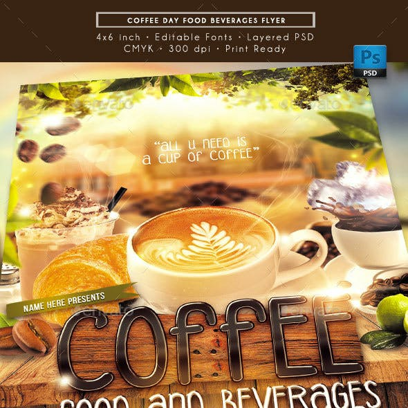Coffee Day Food Beverages Flyer