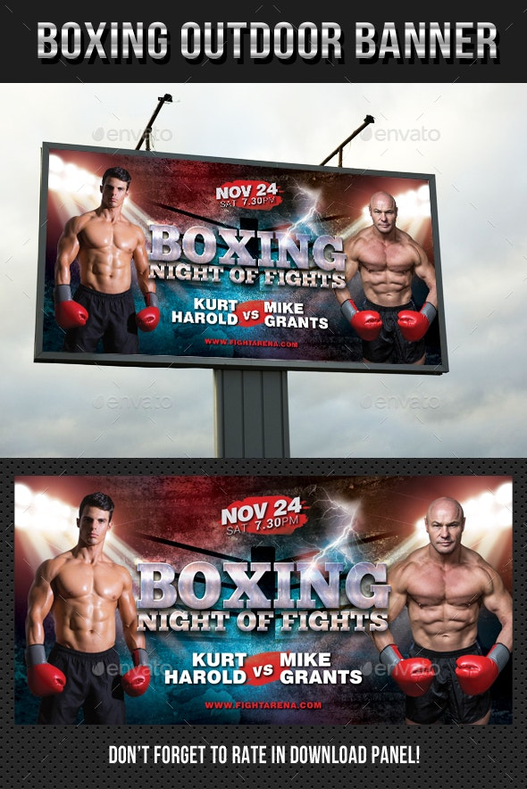 Boxing Outdoor Banner - Signage Print Templates