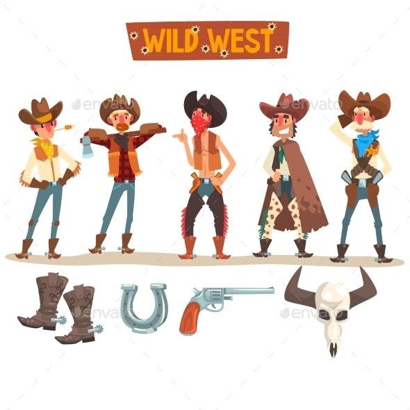 Western Cowboys Set - People Characters