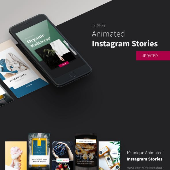 Animated Instagram Stories • Keynote Template