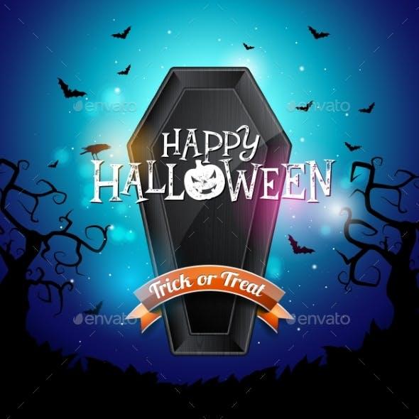 Happy Halloween Banner Illustration