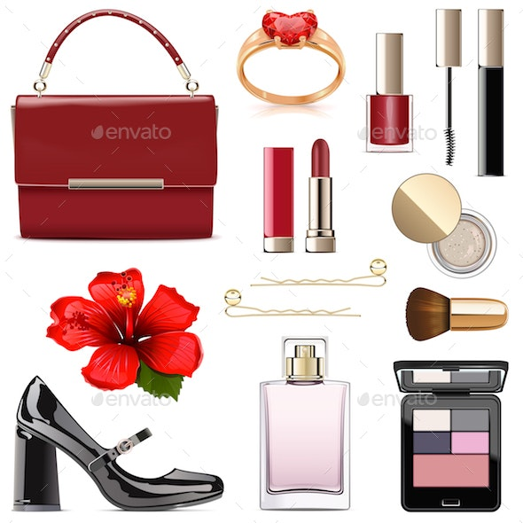 Vector Evening Female Accessories - Retail Commercial / Shopping
