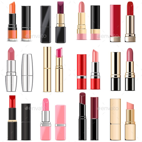 Vector Lipstick Icons - Retail Commercial / Shopping