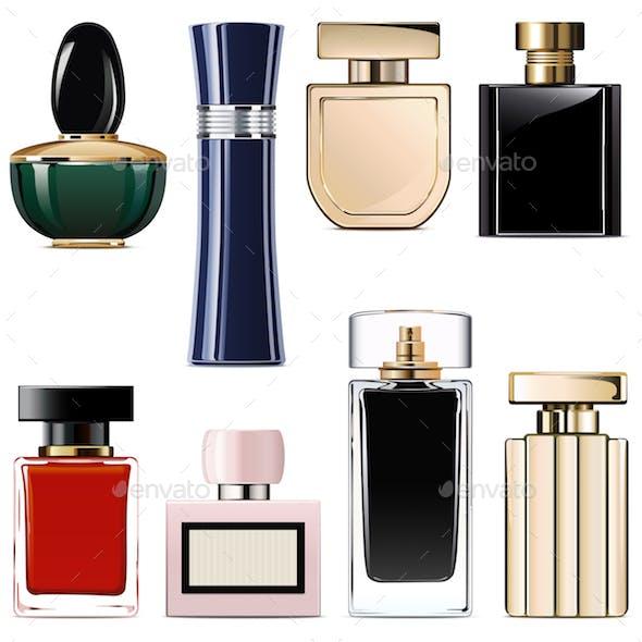 Vector Modern Perfume Icons