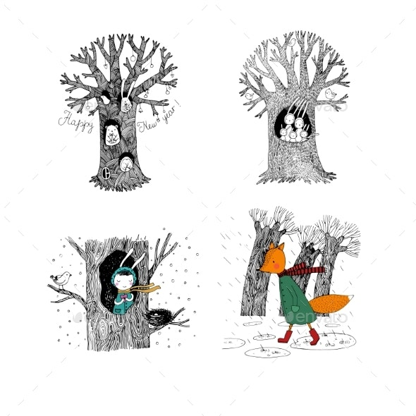 Set with Magic Trees - Miscellaneous Vectors