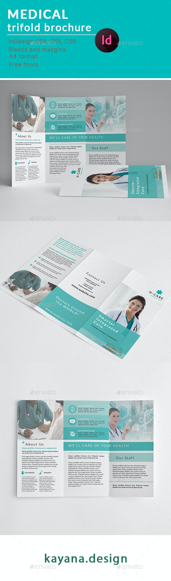 Medical trifold brochure - Brochures Print Templates