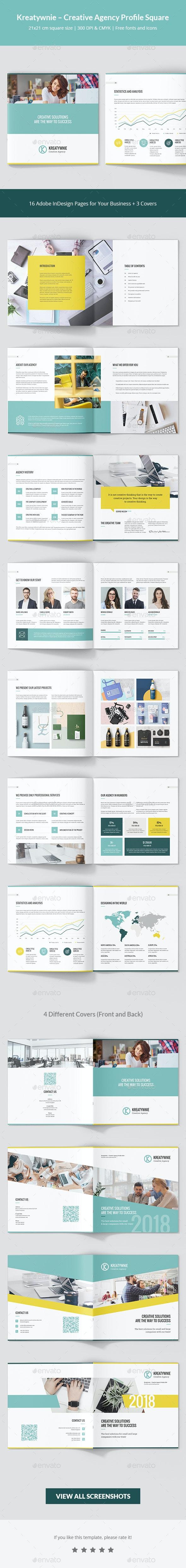 Kreatywnie – Creative Agency Profile Square - Corporate Brochures