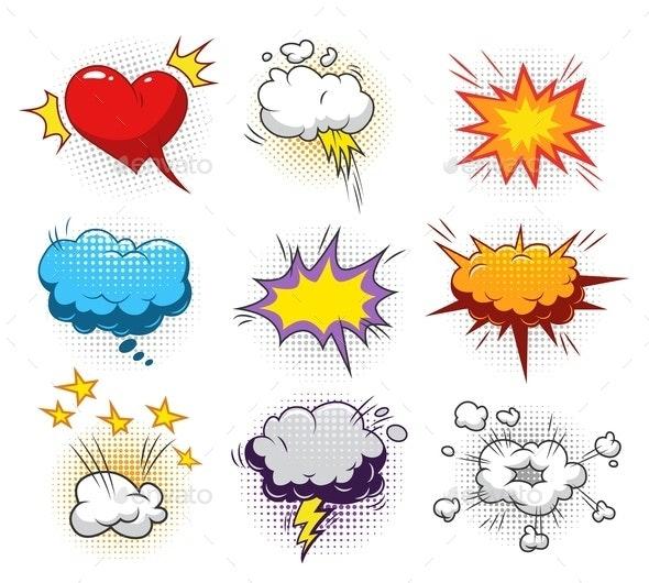Comic Dynamic Elements Set - Miscellaneous Vectors
