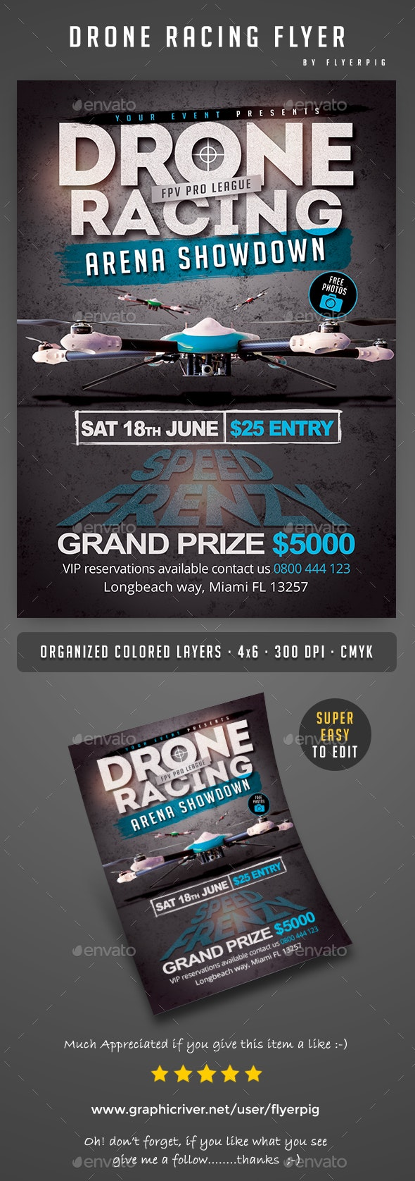 Drone Racing Flyer - Sports Events