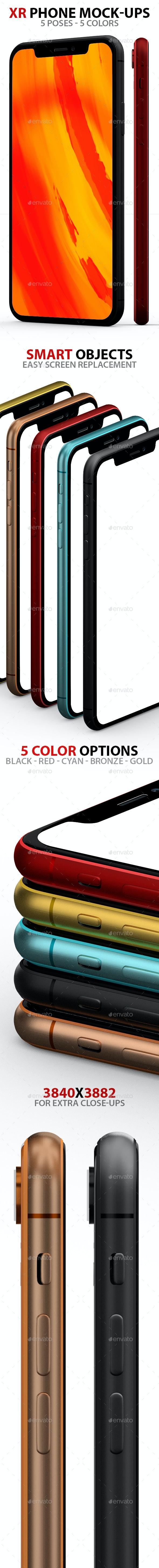 XR 5 PSD Mock-ups - Mobile Displays