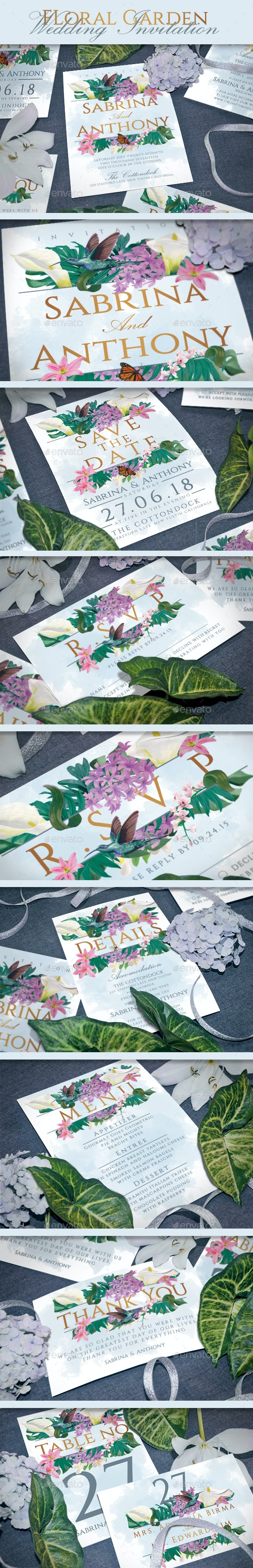 Floral Wedding Invitation - Invitations Cards & Invites