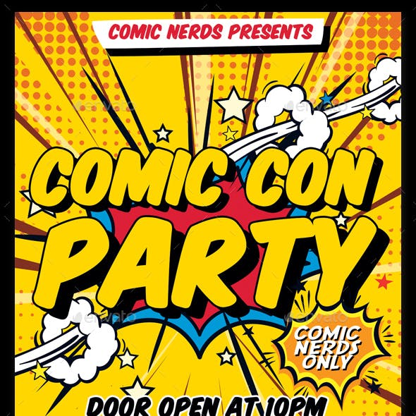 Comic Con Party Flyer