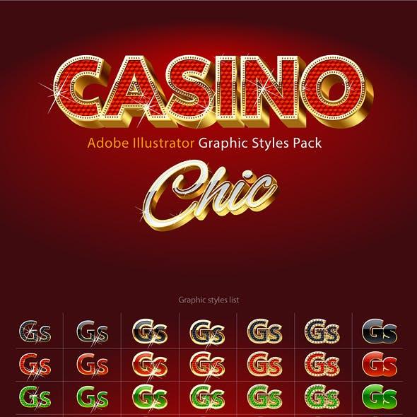 Adobe Illustrator Graphic Styles Extra Gold 3D